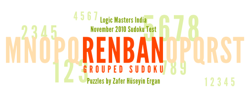 Renban Grouped Sudokus : LMI November 2010 Sudoku Test