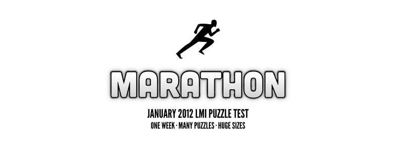 Puzzle Marathon - LMI January Puzzle Test